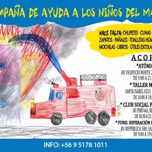 Fundación Superación de la Pobreza habilita centros de acopio en Santiago, Rancagua y Concepción